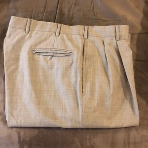 Jos A Bank Mocha Tan Tic Weave Dress Pants 38x32